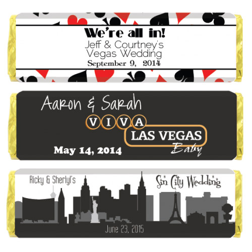 Vegas Themed Chocolate Bar Favors Sweetly Wrapped Occasions