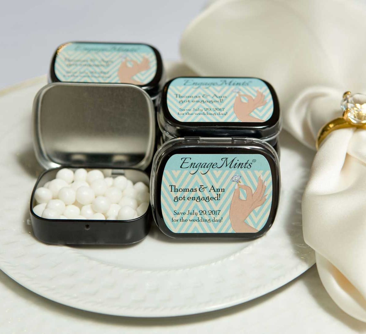 Engagement Mint Tins Sweetly Wrapped Occasions