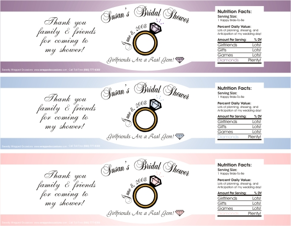 Wedding Water Bottle Labels | Sweetly Wrapped Occasions