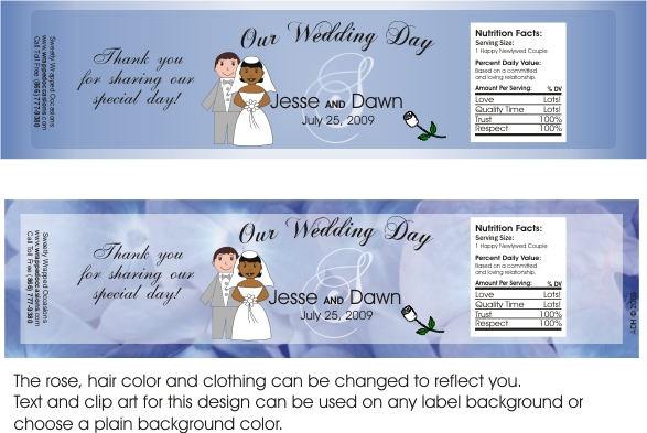wedding water bottle labels sweetly wrapped occasions