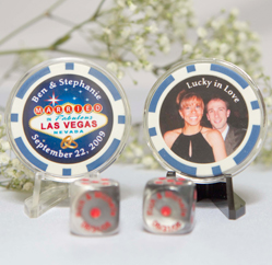 Poker Chip Wedding Favors