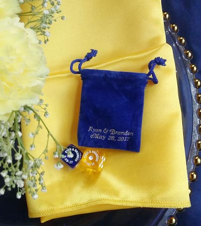 Wedding Dice Dice Wedding Favors Personalized Dice Favors