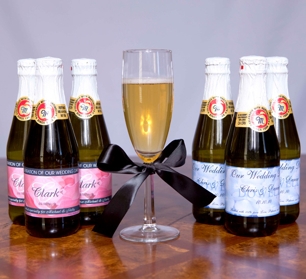 Sparkling Cider Wedding Labels | Sweetly Wrapped Occasions
